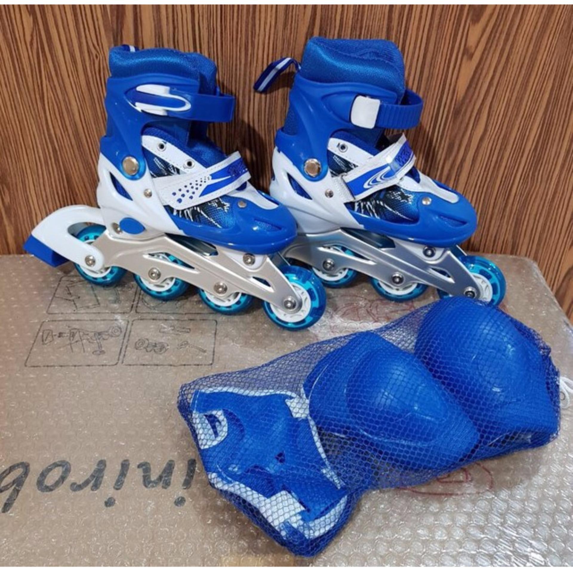 Power Passion Sepatu Roda Inline Karet Pelangi Sepaturoda Anak Cougar Skate  C1 Blu Size 35 38 5d077b5321