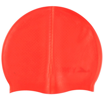 Tutup Plastik Pria atau Wanita Berenang Topi Renang Silikon Tahan Udara 959ef54eb9