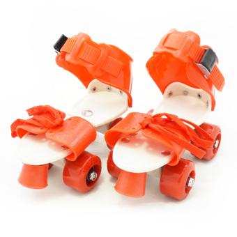 TSH Sepatu Roda 4 Anak / Dry Skate Sepasang + Tas - Merah