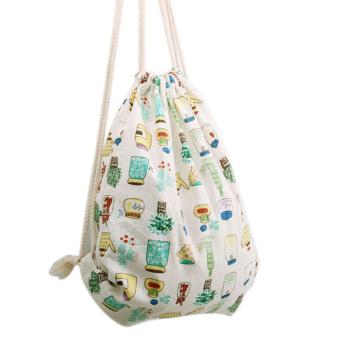 ransel Serut menggunakan YM Bahu tas travel besar berenang tas botol makan bunga-bunga Pantai