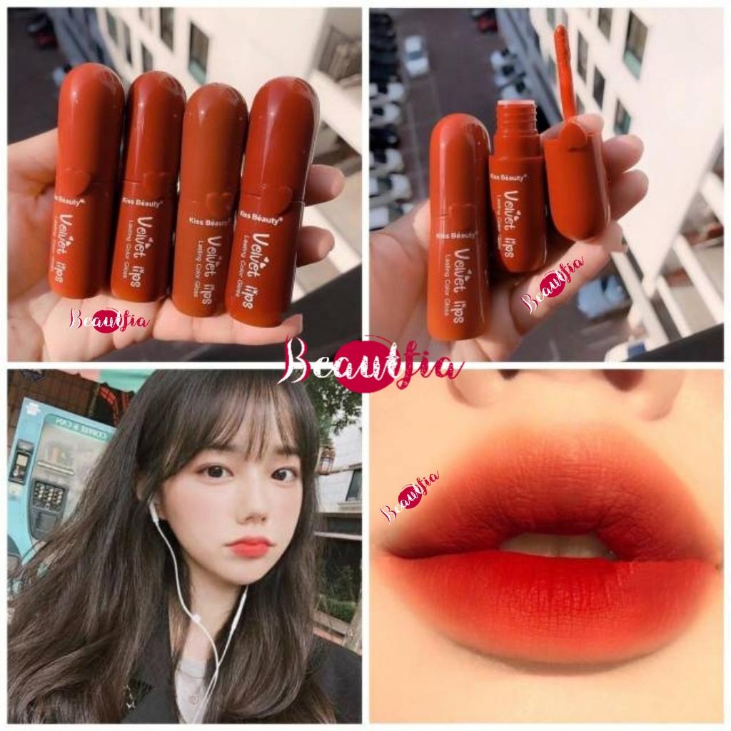 kiss beauty velvet lips matte lipcream liptint [ori thailand]