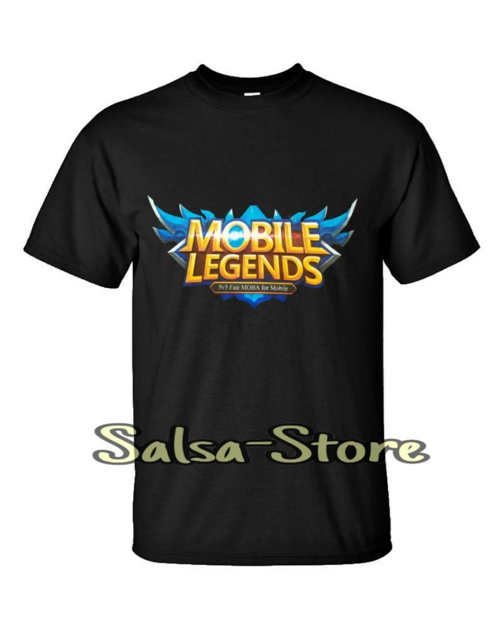 salsa store – t-shirt / baju / kaos game   anak dewasa pria wanita cowok cewek laki laki perempuan – mobile gaming – mabar – moba – mobile legends – mobile legend logo