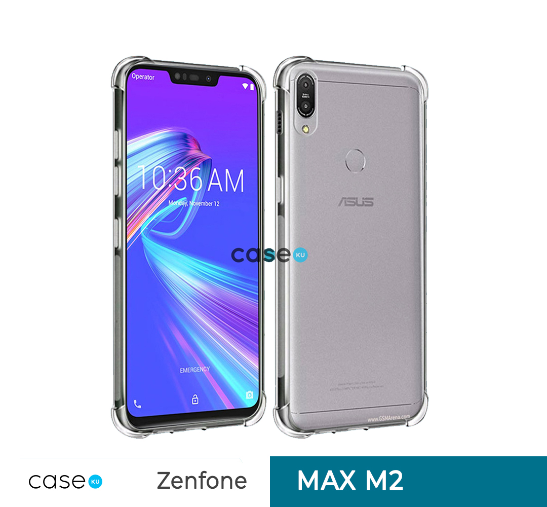 Casing Asus Zenfone Max M2 Anti Crack Ultra Thin Anti Shock Jelly Silikon Shockproof Softcase - Bening