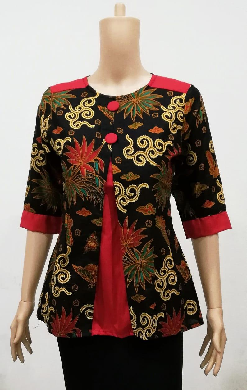 Baju Atasan Blouse Batik Marina