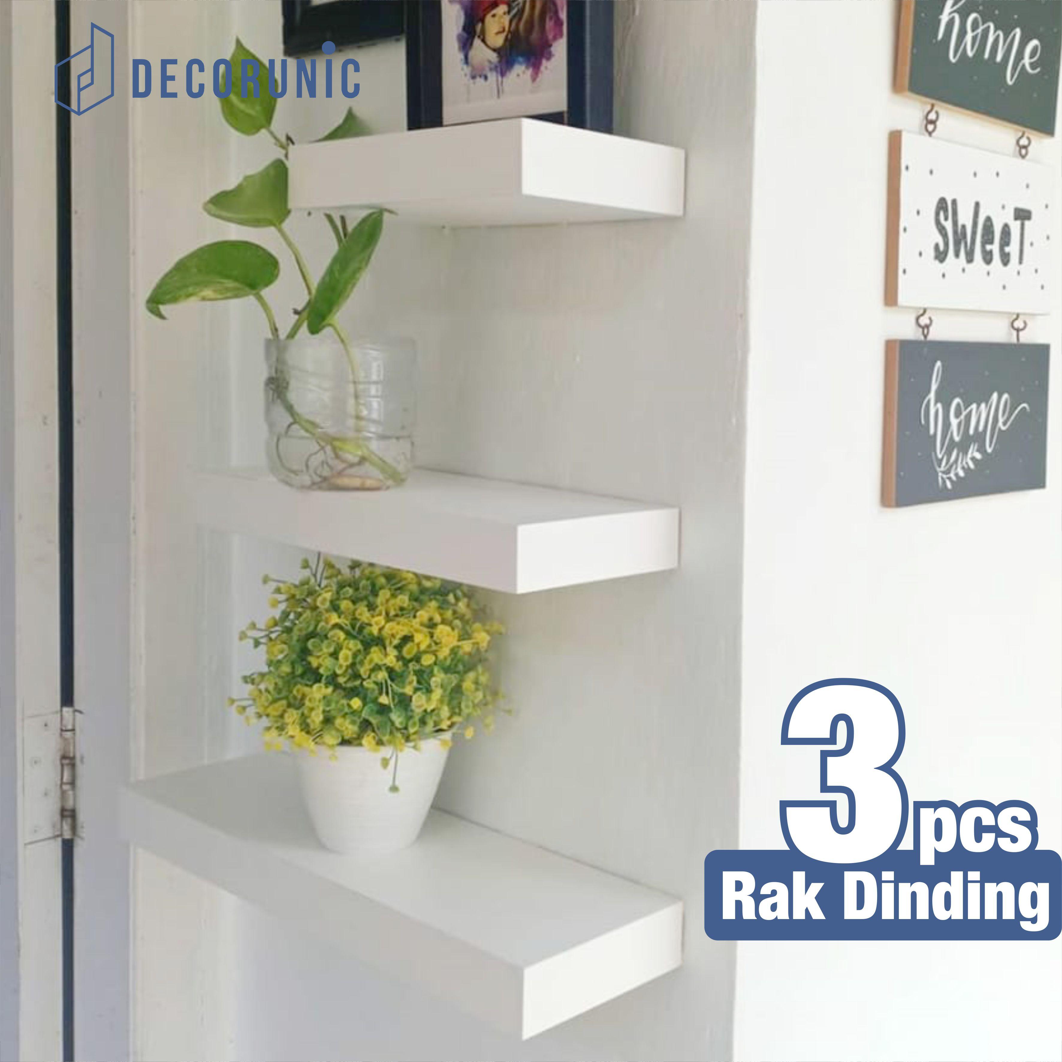 rak dinding ambalan minimalis gantung ukuran 60 cm