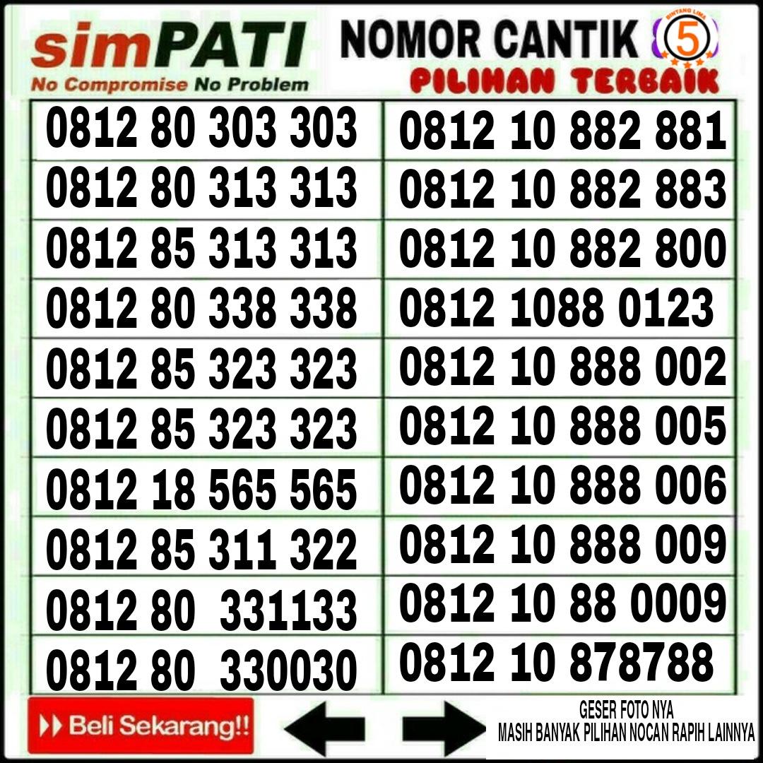 nomor cantik telkomsel 4g lte kartu perdana prabayar 1212
