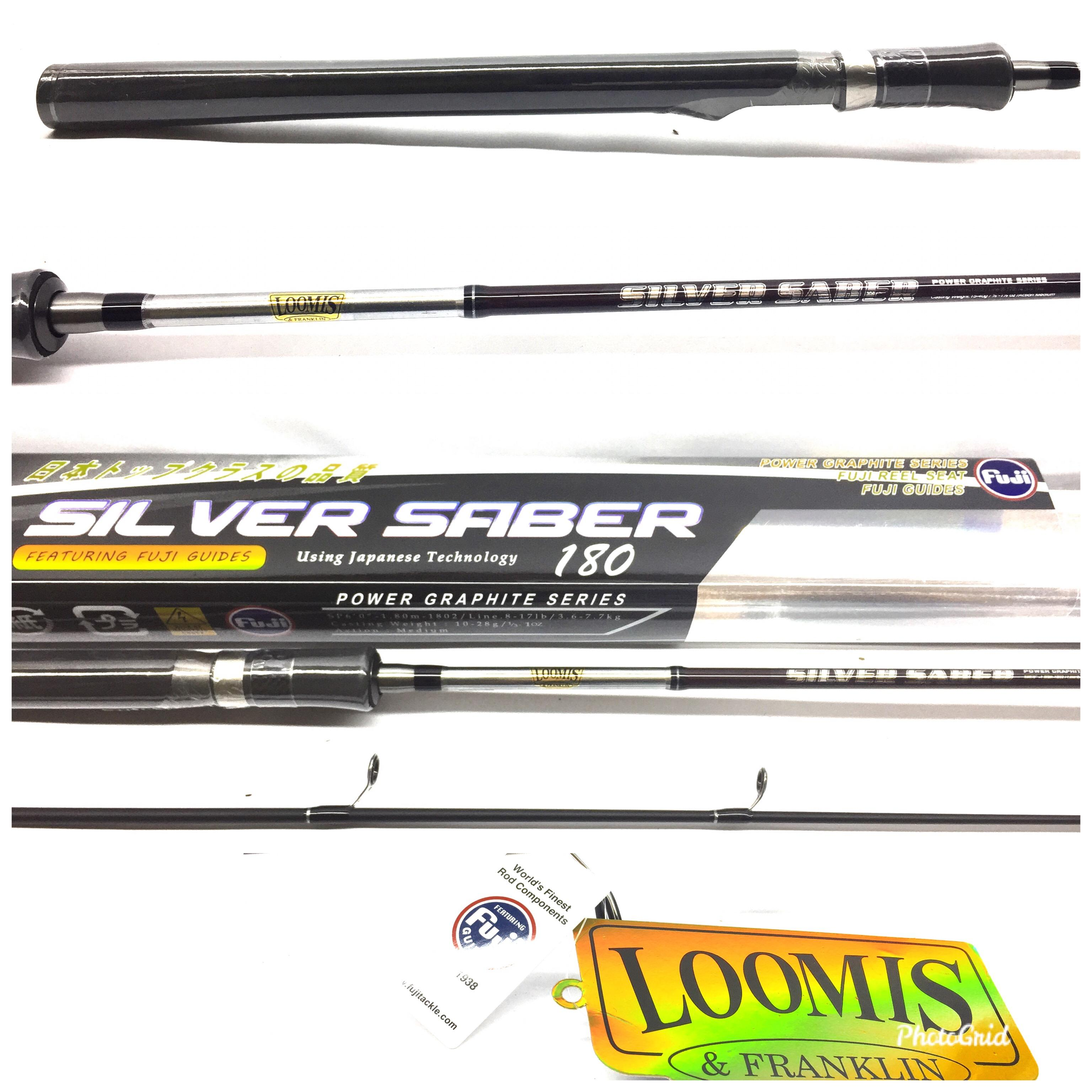 joran pancing loomis silver saber 180 cm 8-17lb fuji