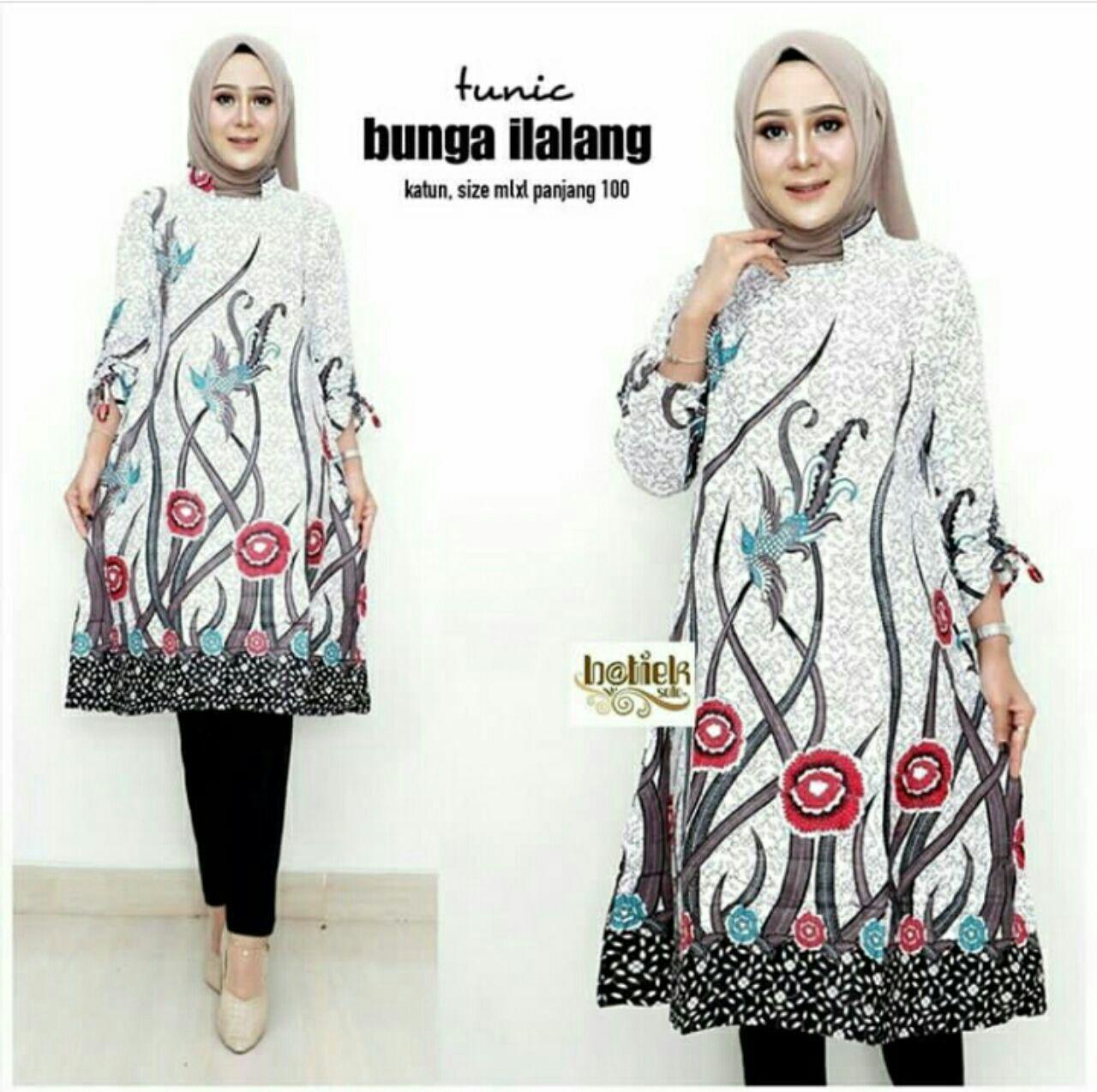 Model Batik Kerja Tunik Model Batik 2019