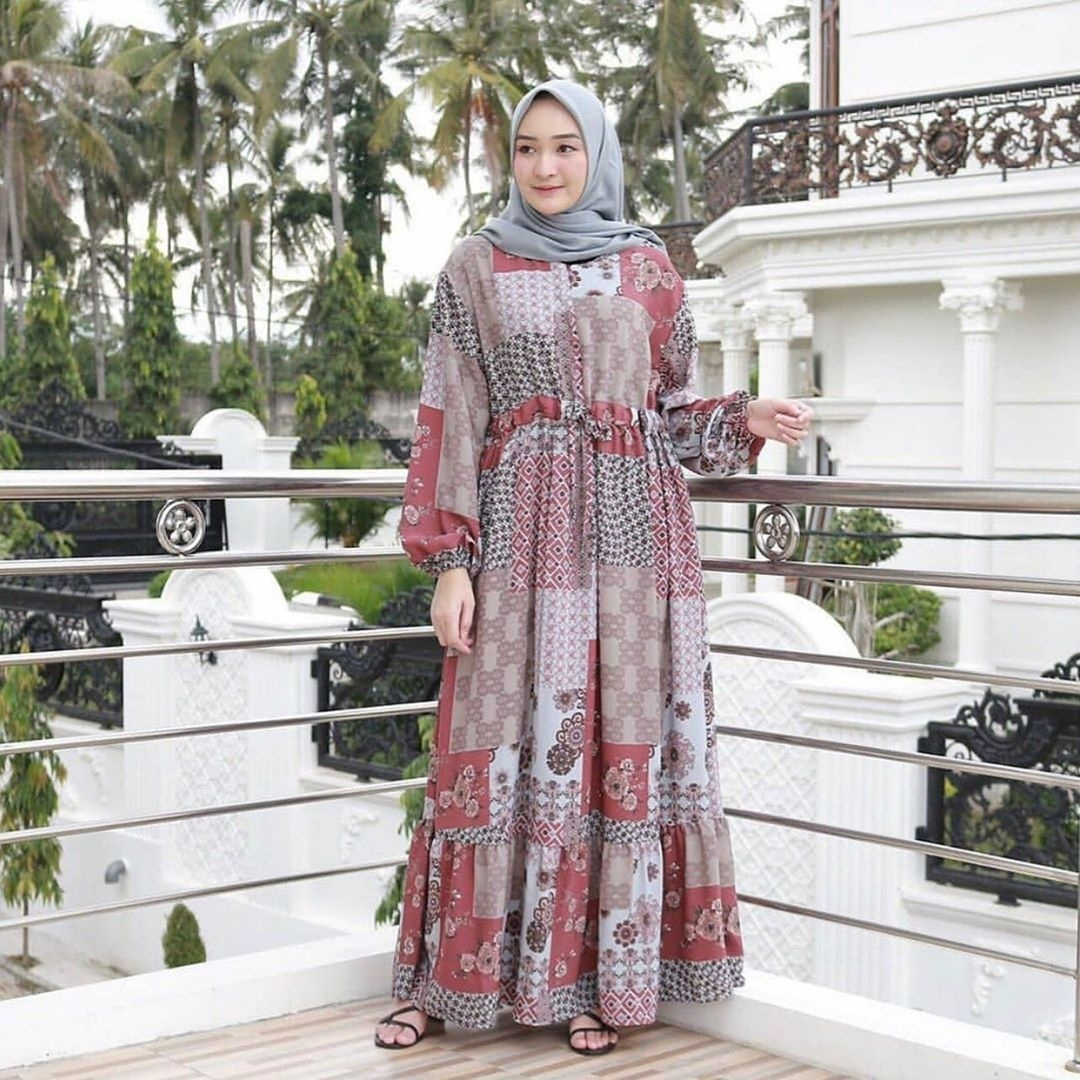 MileaDillan.id Maxi Dress Diandra | Maxi Dress Wanita | Maxi Dress Kekinian | Maxi Dress Motif