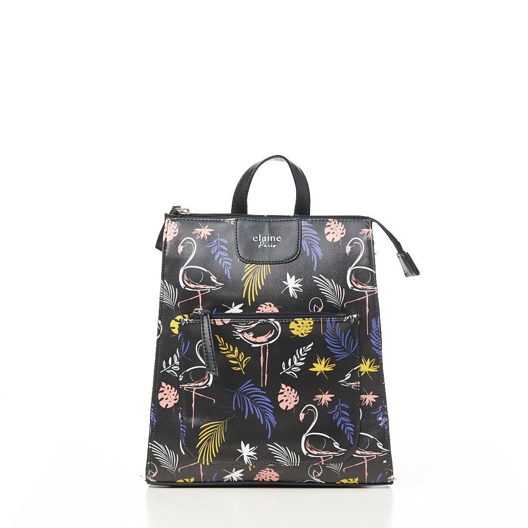 Tas Wanita Tas Ransel Wanita Backpack Wanita Kasual Motif Black-Flaminggo 31HI005605 Elaine
