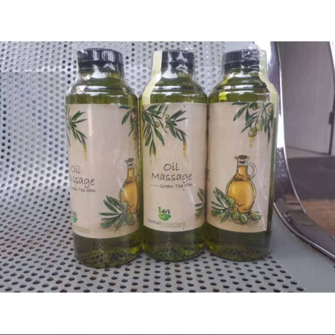 cod – 250ml masage oil green tea aromatherapy pure minyak urut gosok pijat spa massage oil aromatic teh hijau herbal nusantara