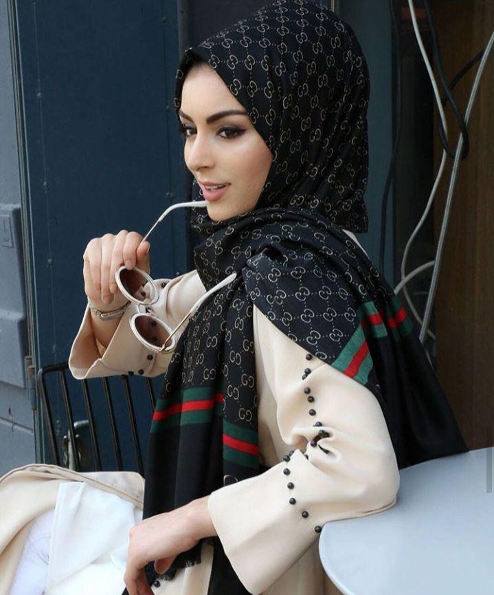 pashmina branded import gucci semi wool