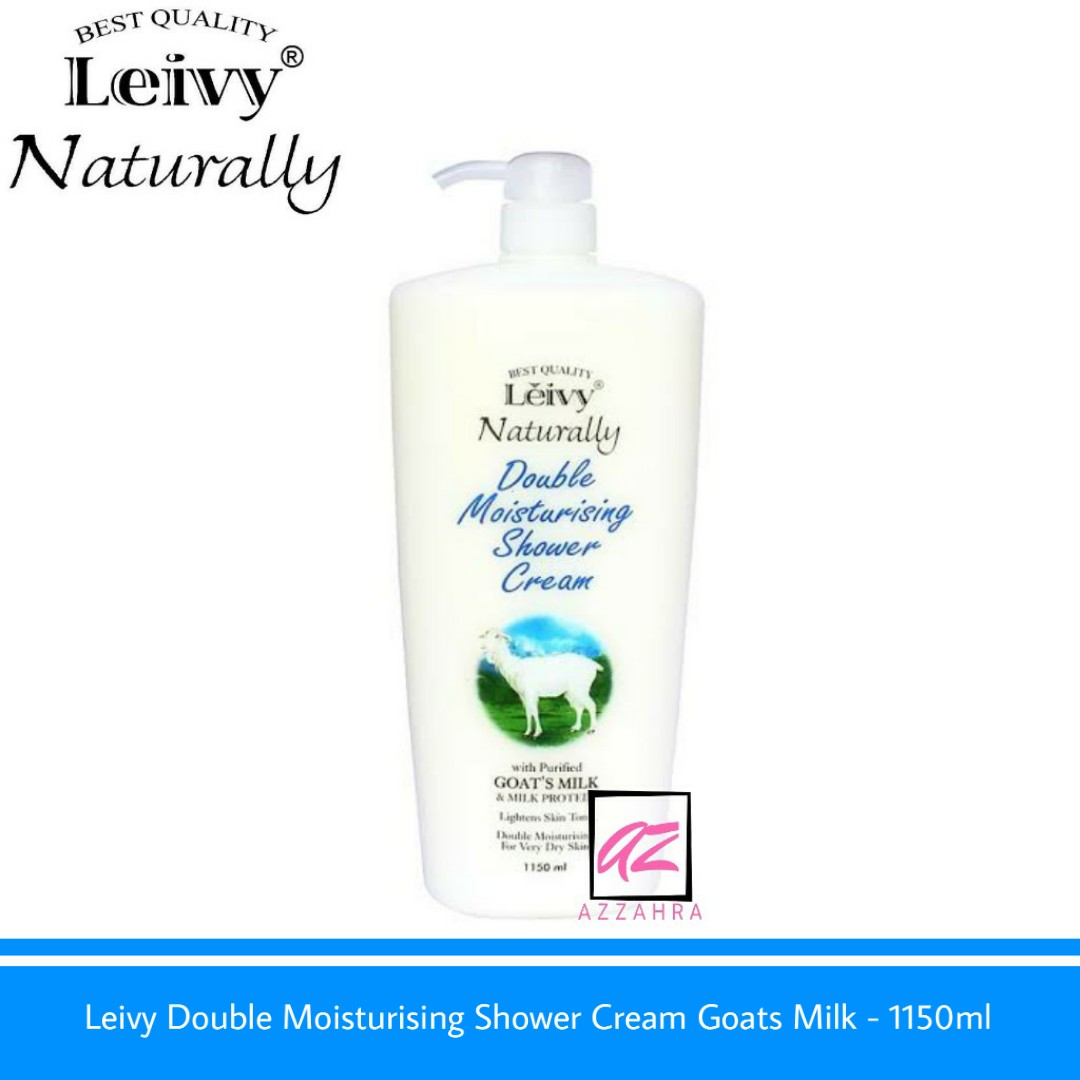 leivy double moisturising shower cream goats milk – 1150ml