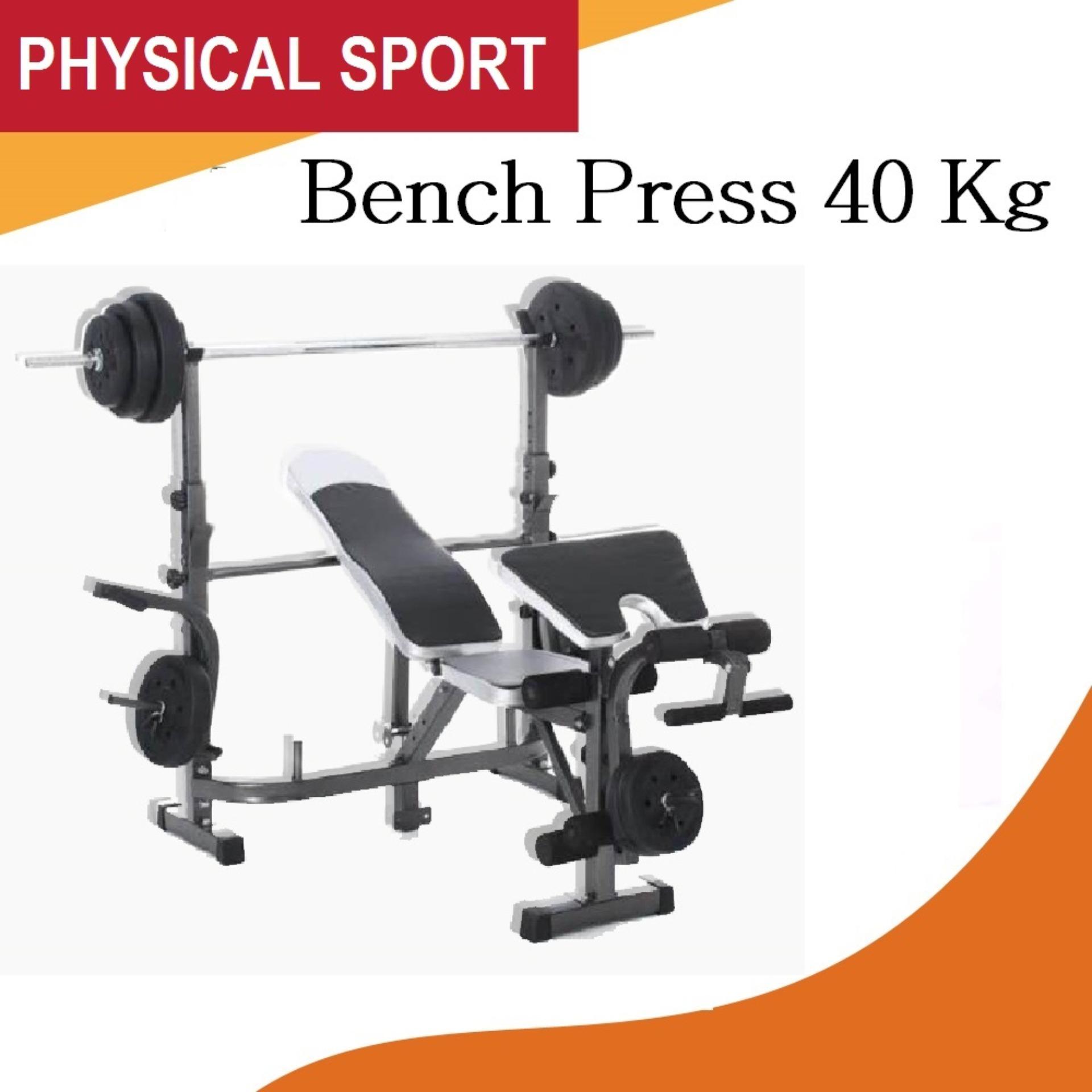 idachi bench press grey dengan beban 40kg stick