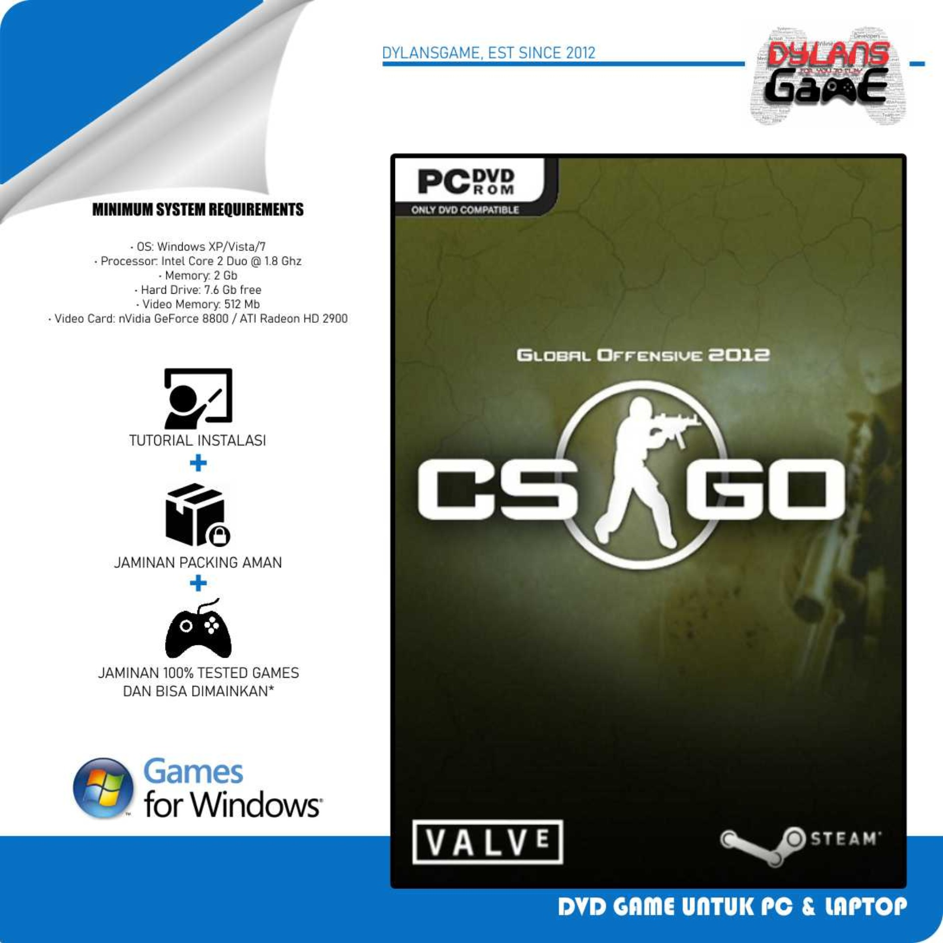 counter strike global offensive csgo pc games dvd game laptop cd game pc