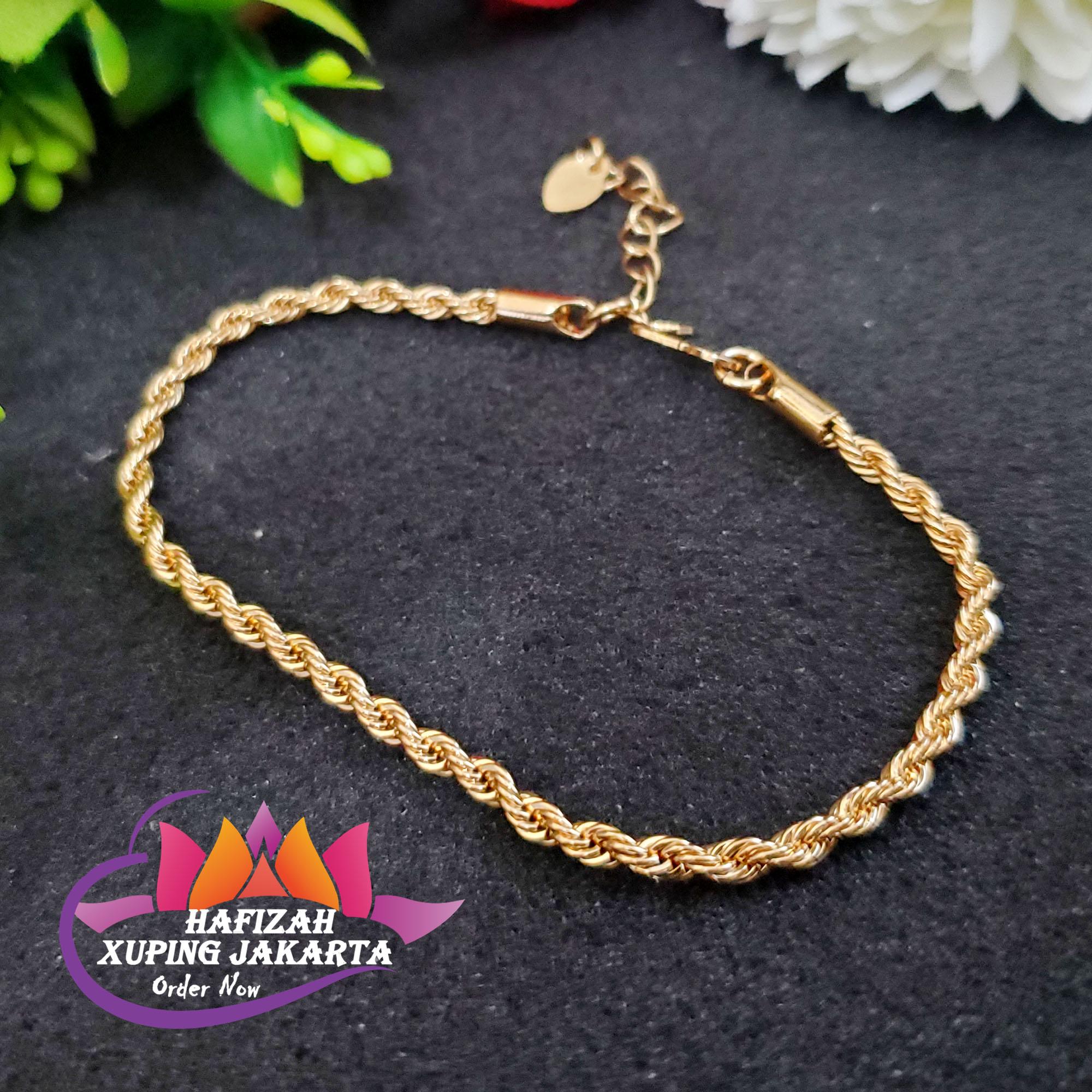 xuping gelang 24k tikar lipan kecil perhiasan wanita