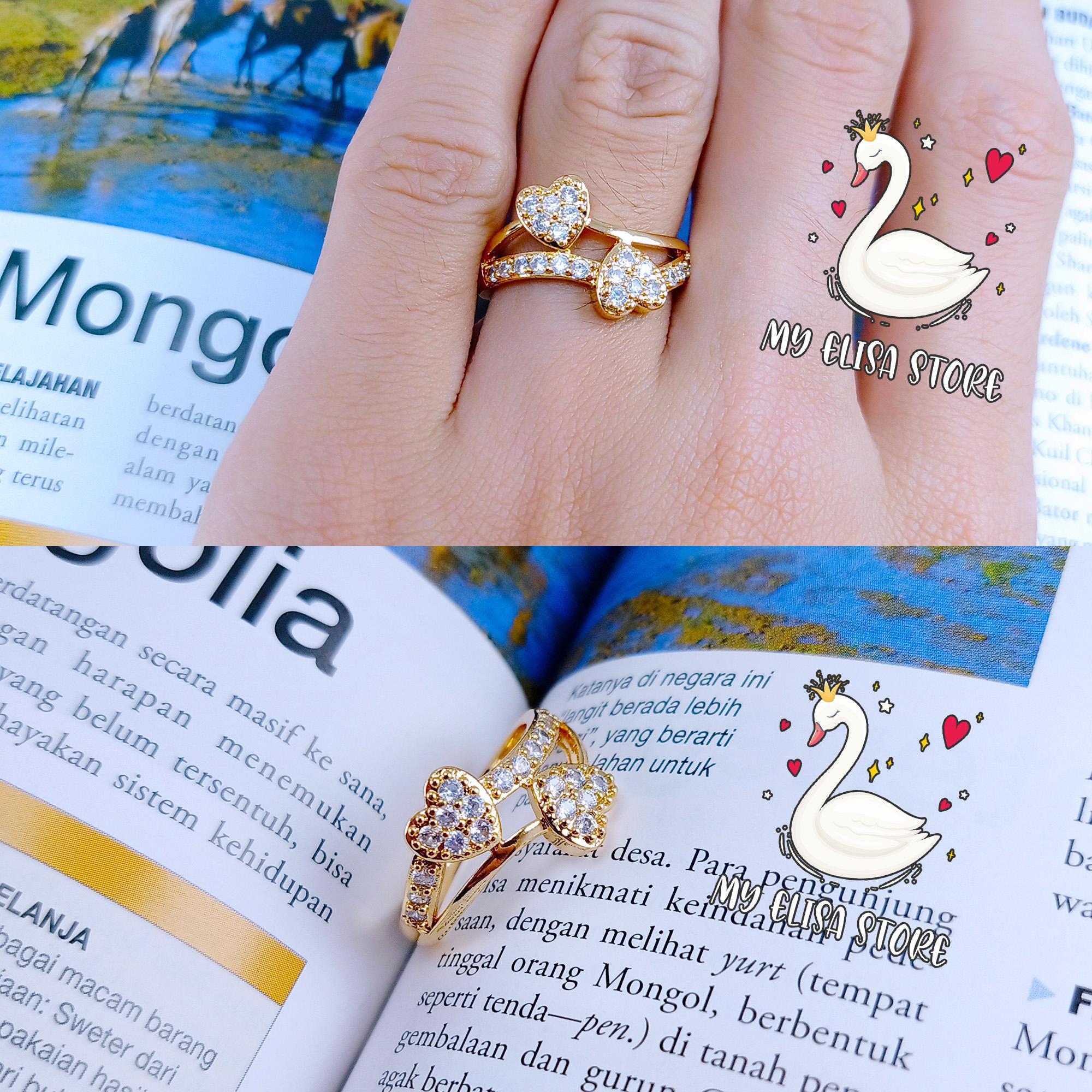 my elisa cincin xuping gold lapis emas women ring cinta 47