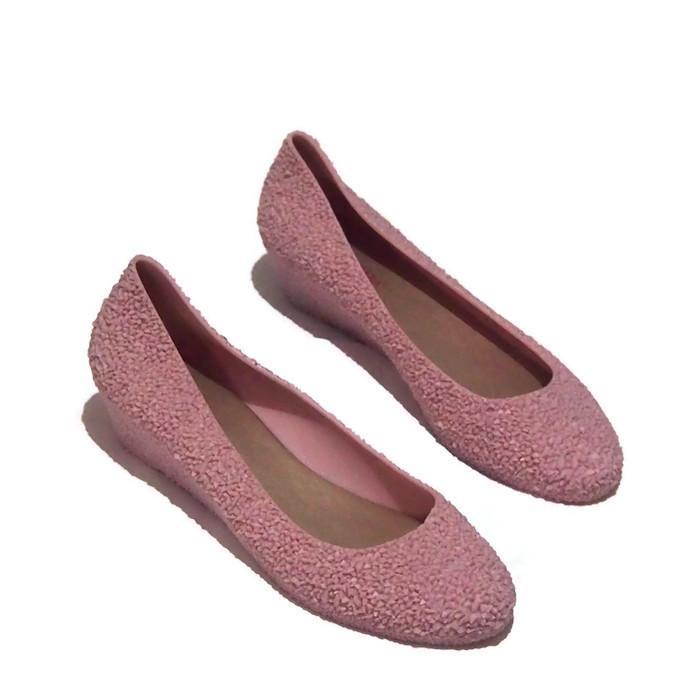 ... Flat Shoes Bara Bara - Sepatu Balet Wedges Closed-Toe Wedges Wanita Warna Dikirim Random