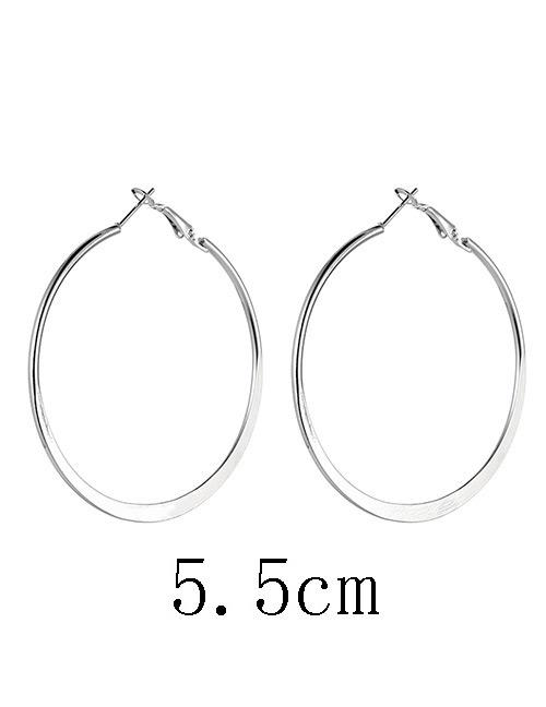 LRC Anting Tusuk Fashion Pure Color Decorated Earrings
