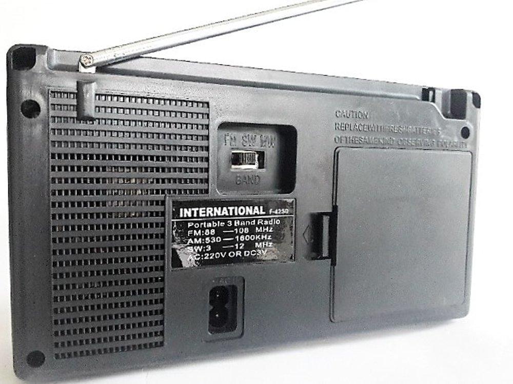 ... International Radio Portable AC/DC 3 Band FM/AM/SW F-4250