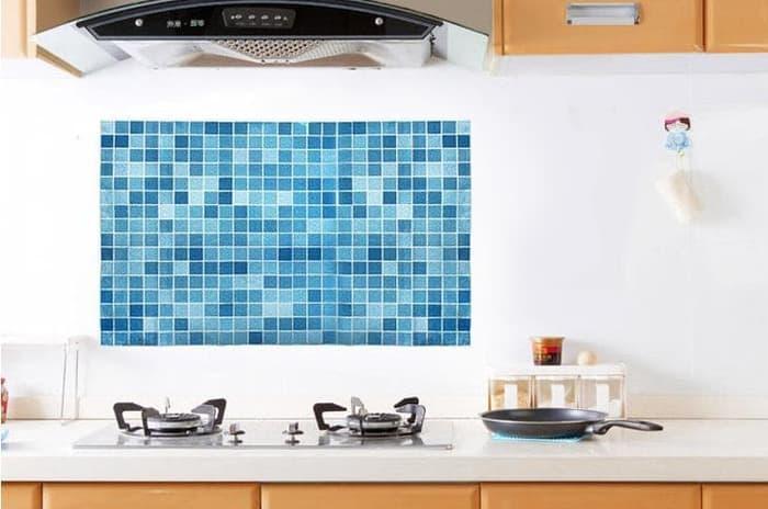 Wall Sticker DAPUR motif MOSAIK Anti Minyak ukuran 45 x 70 cm