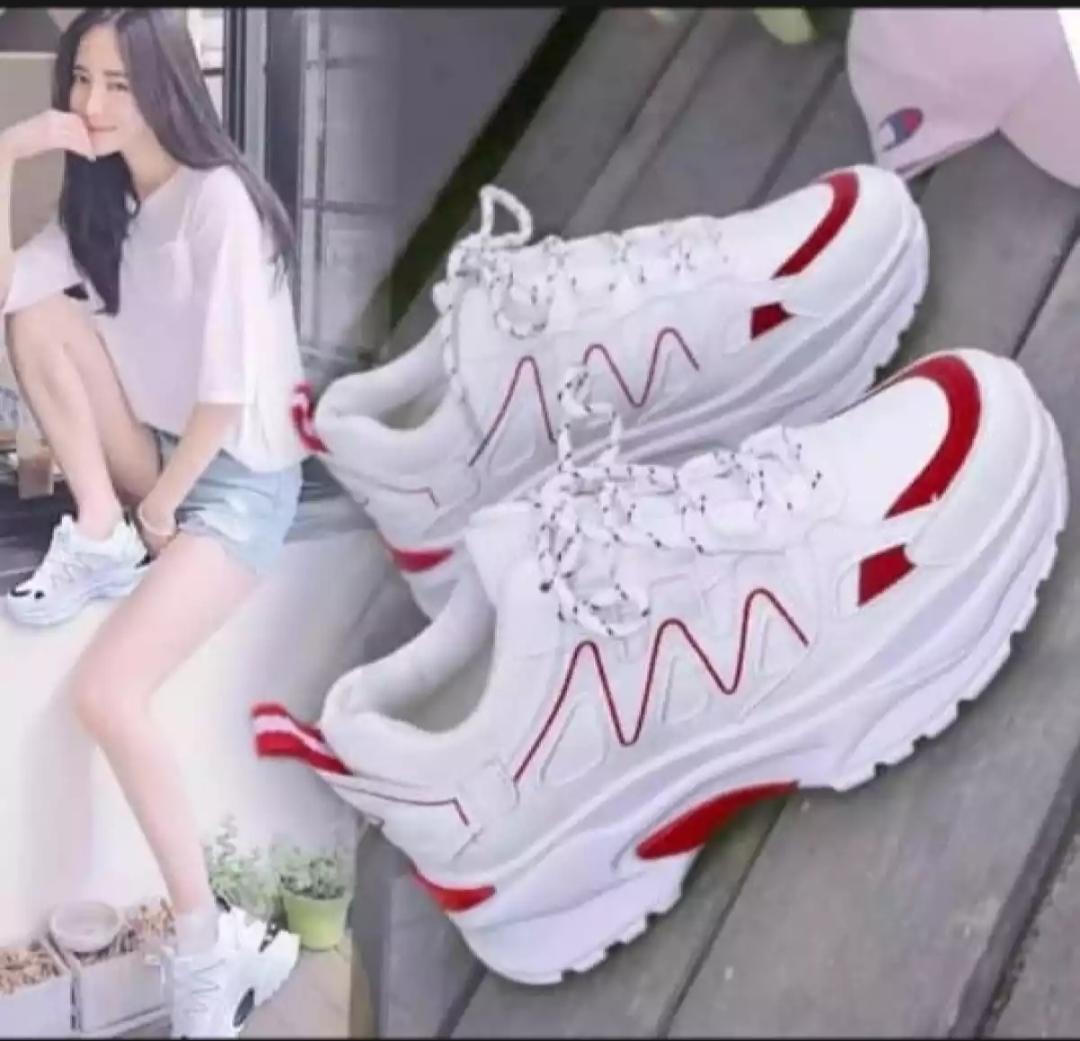 af store80 sepatu sneaker wanita/sepatu jogging wanita gaya korea