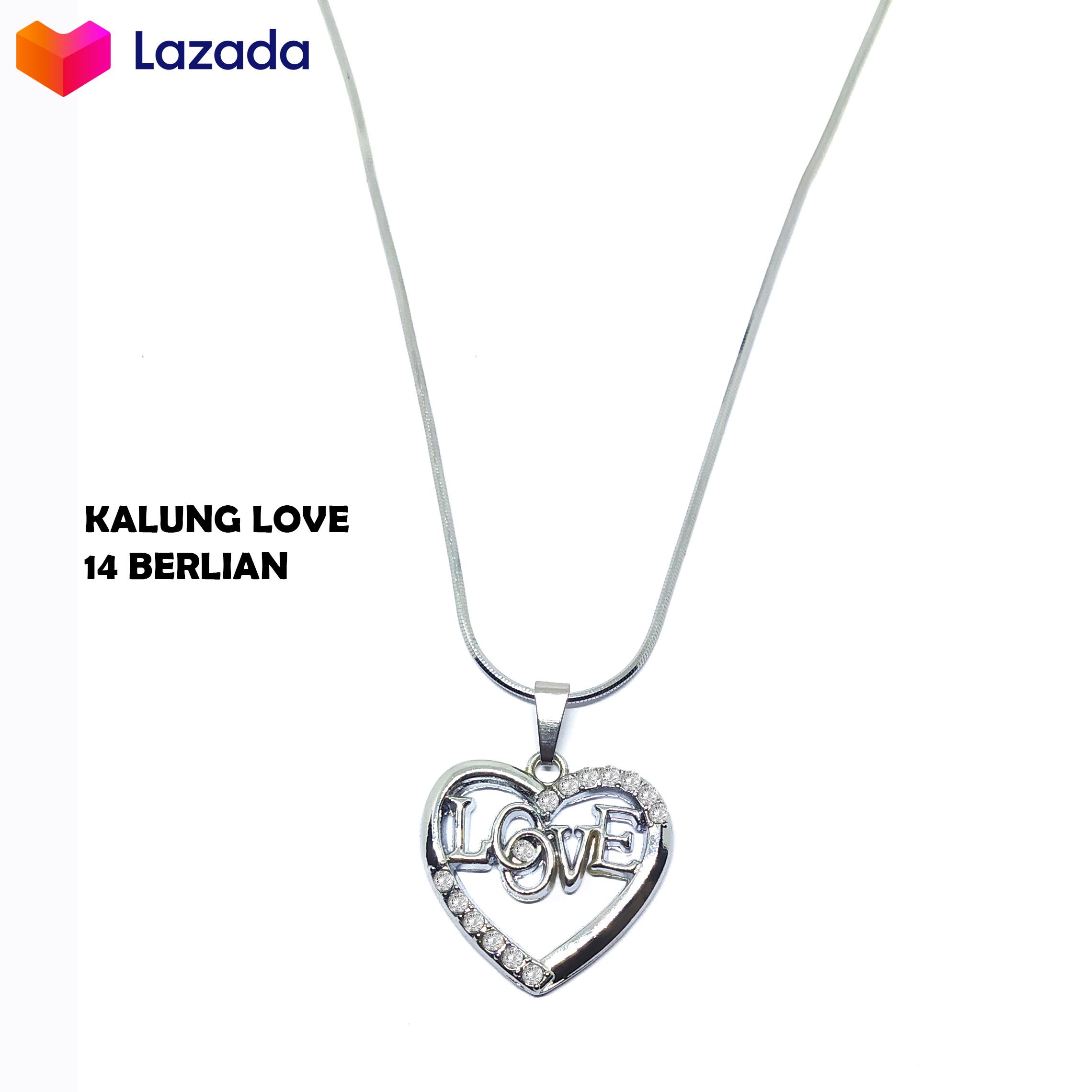 kalung titanium anti karat berlian cinta tulisan love perhiasan wanita atau kalung wanita korea | kalung wanita  2020 | kalung titanium anti karat model  | perhiasan titanium asli anti luntur | kalung rantai wanita | kalung putih anti karat