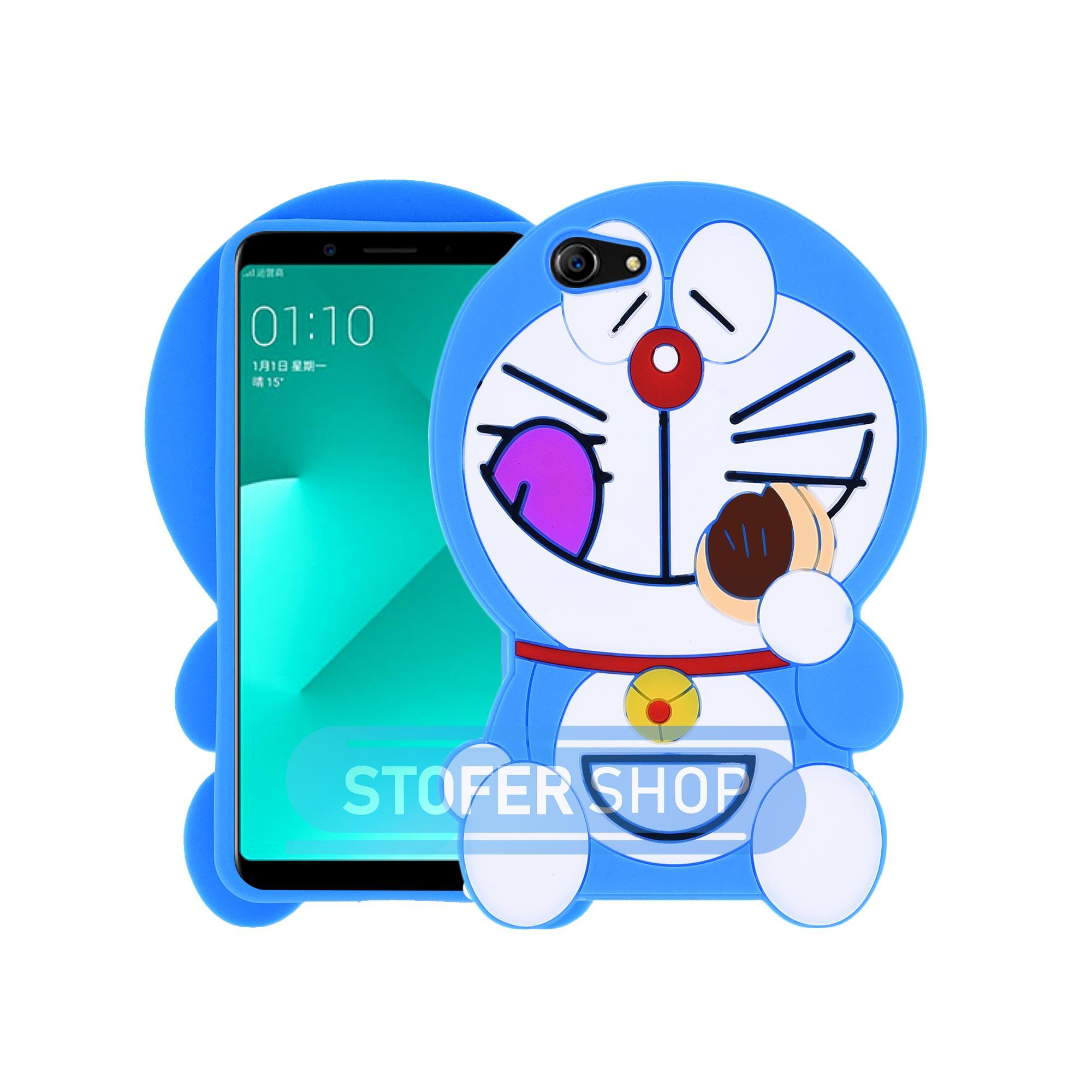 3D Case DORAEMON Oppo A83 Softcase 4D Karakter Boneka Doraemon Dorayaki Karakter / Silikon / 3D