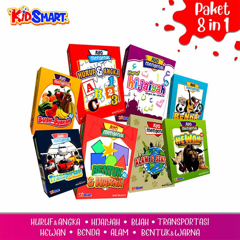 paket 8 in 1 – flashcard kartu pintar bayi balita bahasa  inggris