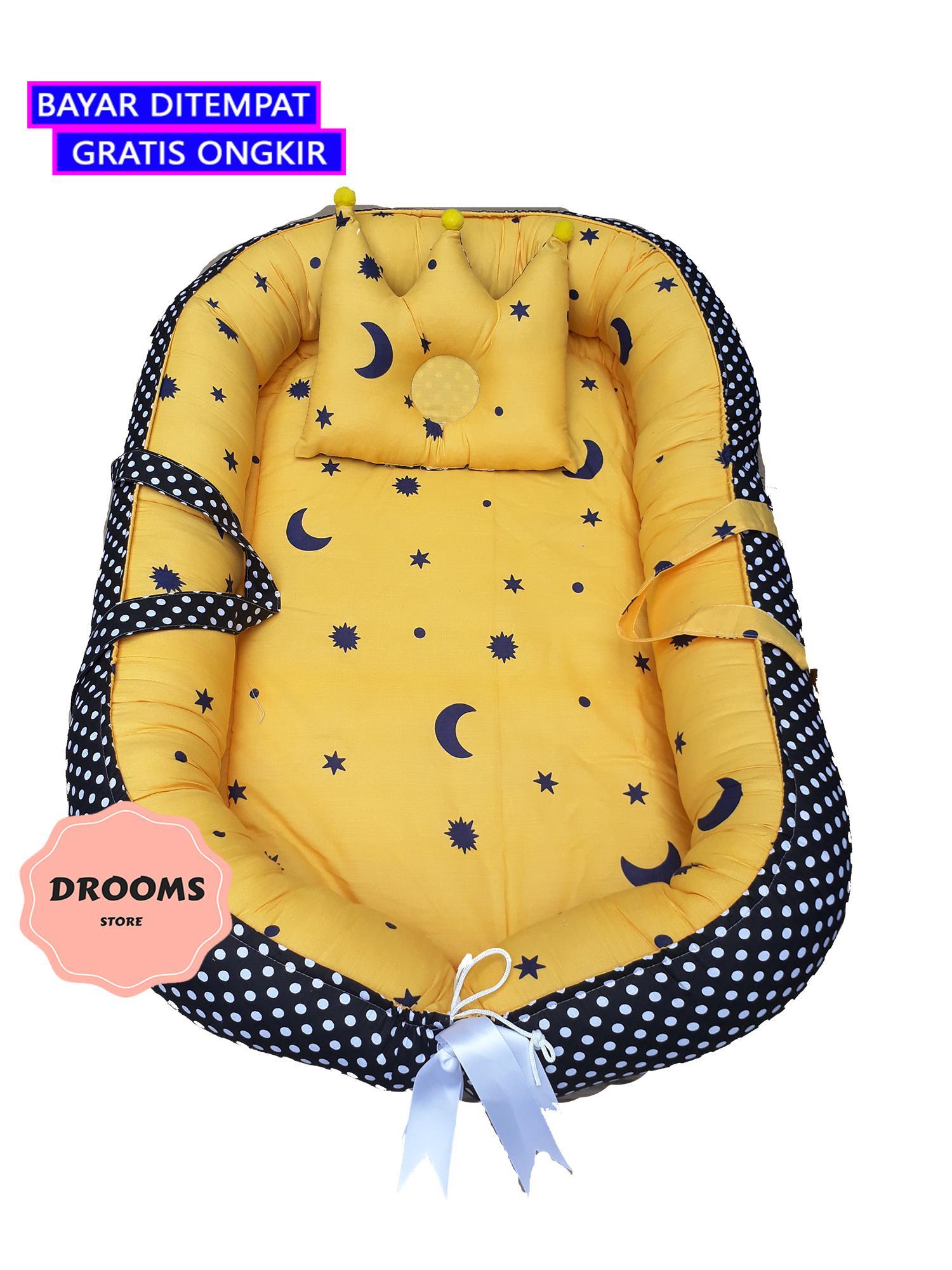 babynest / kasur bayi motif lucu non alergik free bantal mahkota