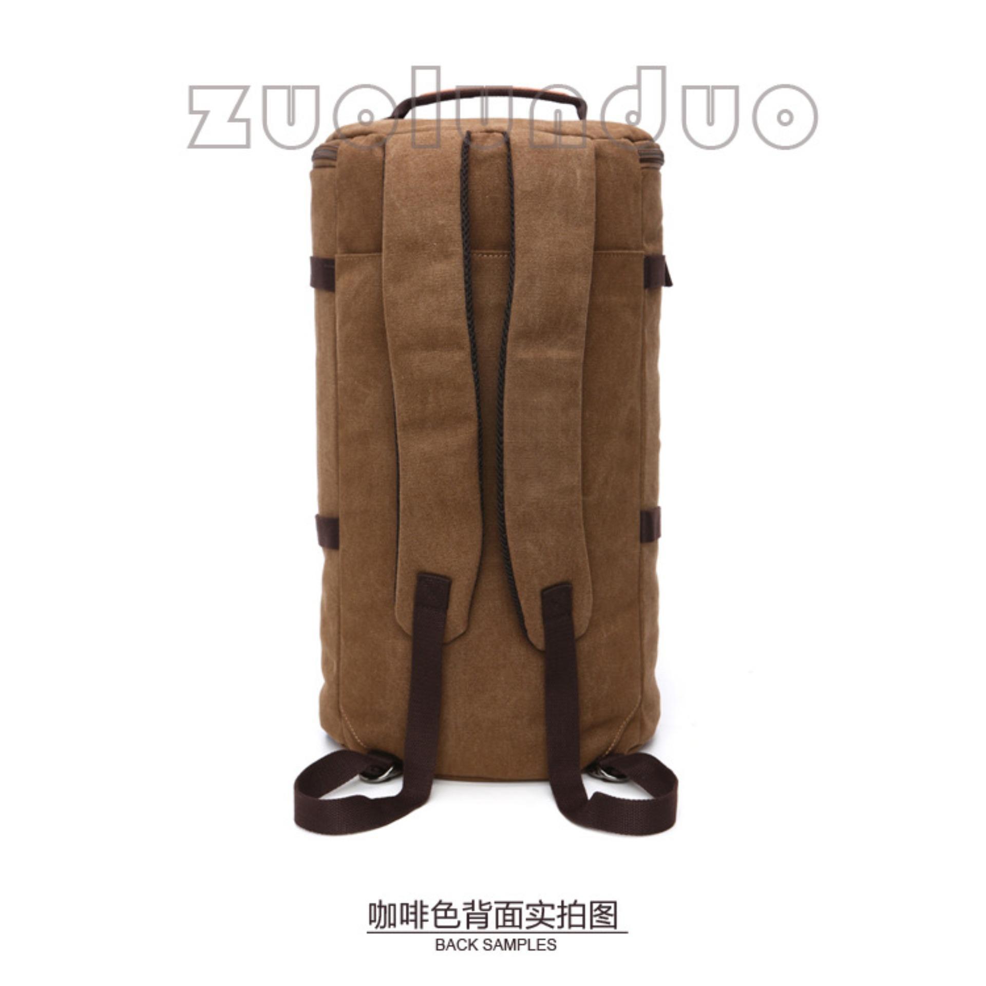 8206d4964e Tas ransel canvas pria tas tabung tas modis Tas punggung Tas selempang .