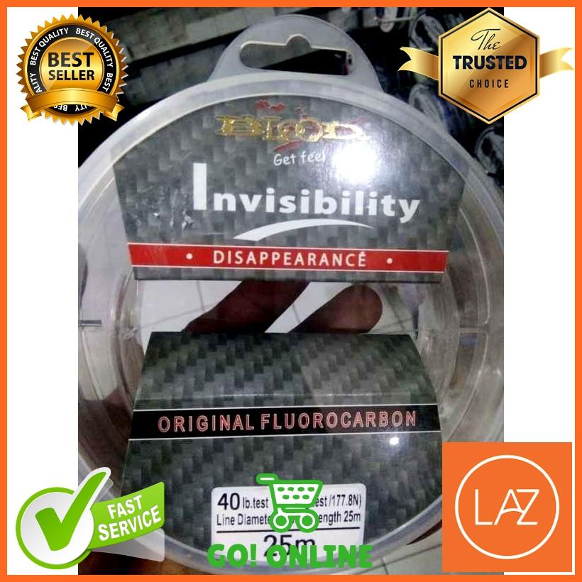 Senar Pancing Blood Invisibility Leader Fluorocarbon Material 25M