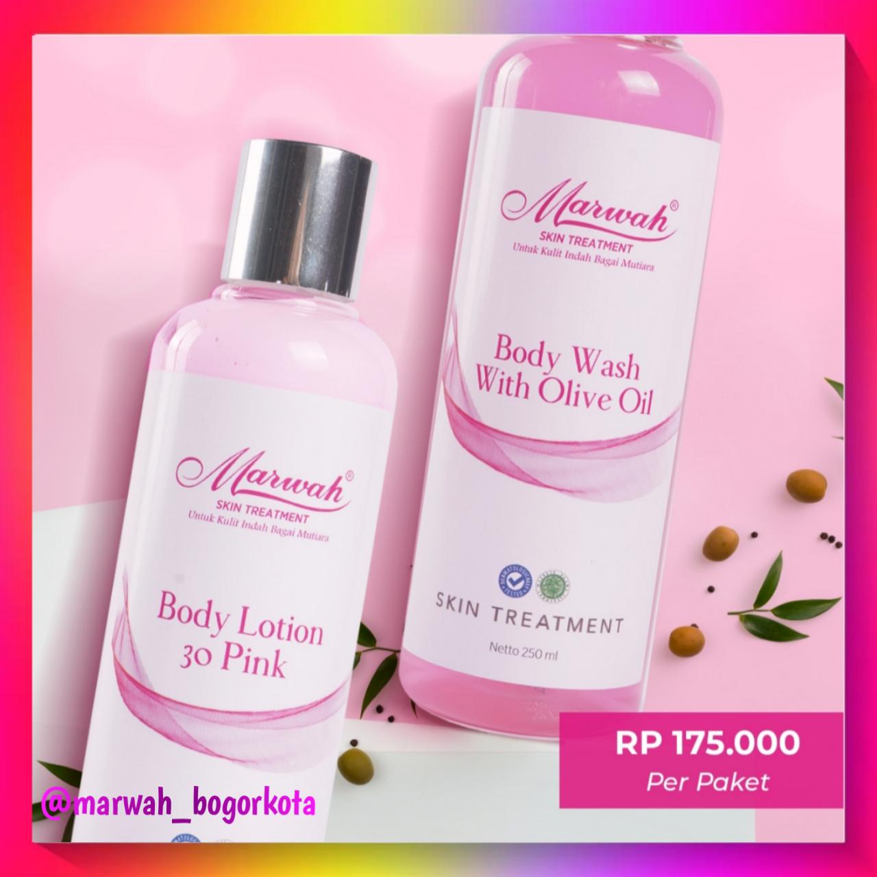 marwah body lotion & wash – lotion satu paket