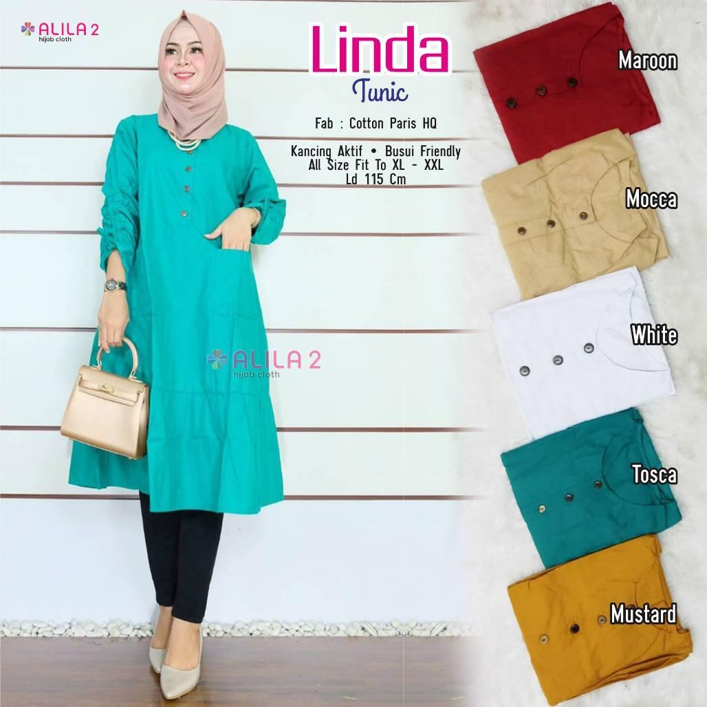 Review Linda Tunik Cotton Paris Hq Busui Baju Atasan Wanita