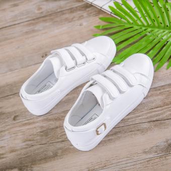 Fitur Sepatu Sneakers Datar Siswa Sekolah Menengah Remaja Sepatu