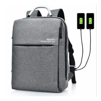 15 Inch Men / Women's Unisex Anti-theft External USB ChargeNotebook Backpack Male Canvas Backpacks Fashion Laptop Bag PackLarge Capacity Casual Travel Rucksack Shoulder Bags computer bag /student bag / leisure travel / backpack - intl