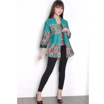 Pencari Harga 168 Collection Atasan Blouse Kirana Abaya Kemeja Wanita - Hijau lowest price - Hanya