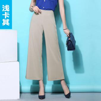 Tampak Kualitas Tinggi Pinggang Tinggi untuk Pesta Yang Lebar Rok Celana (Khaki)