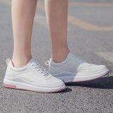 2017 Baru Fashion Tebal Putih Sepatu Renda Sepatu Wanita Sepatu Lari   Siswa Korea Olahraga Tide Flat Tide sepatu kasual - 2