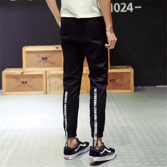 2017 Spring Man Pants Solid Hip Hop High Street Celana Celana & Pria Joggers Slimming Pants