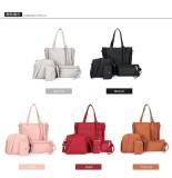 ... 2018 New Perempuan Tas 4 Sets (Tote Bag + Shoulder Bag + Handle Bag +