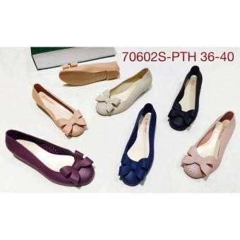 70602s-pth sepatu jelly karet bara bara bara pita flat shoes