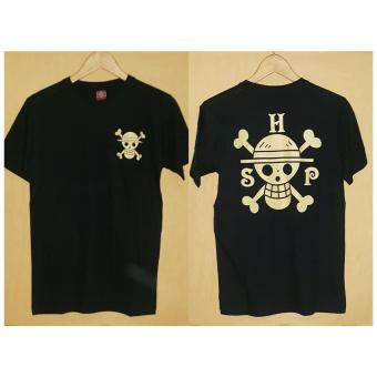 Aduuh Kaos T-Shirt Distro Premium Anime One Piece - Black