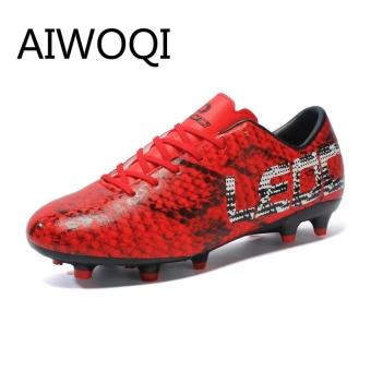 Aiwoqi Pria Wanita Dalam Luar Ruangan Sepak Bola Sepatu Sepak Bola Terbaik  Turf Ground Cleats Sepatu 22b60ed41c