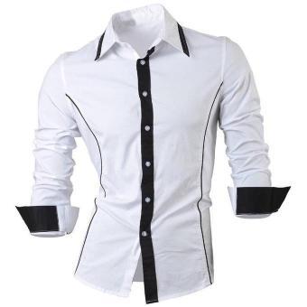 Alonzo White Xl Ot Kemeja Pria Katun Strech Lengan Panjang Putih Xl - Hot Items