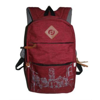 Aluz BPL6 Tas Ransel Backpack Pria Casual/ Sekolah/ Kuliah/ Kerja + Raincover Best