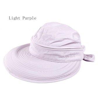 Amart Fashion Ikatan Simpul Besar Musim Panas Pantai topi pelindung sinar matahari (Ungu)