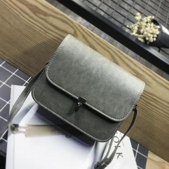 Amart Fashion sederhana tas mini wanita Korea tas kurir bahu kulit kasual warna Solid segiempat untuk