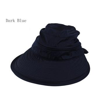 Amart simpul Fashion musim panas matahari pantai hat topi Visor besar (gelap) - International