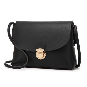 Amart tas bahu dompet genggam tas kurir selempang Mini kasual kulit PU untuk wanita